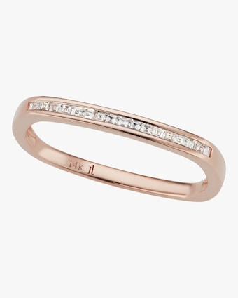 Rose Gold Ultra Slim Square Stacking Band