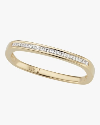 Jane Taylor Yellow Gold Ultra Slim Square Stacking Band 1