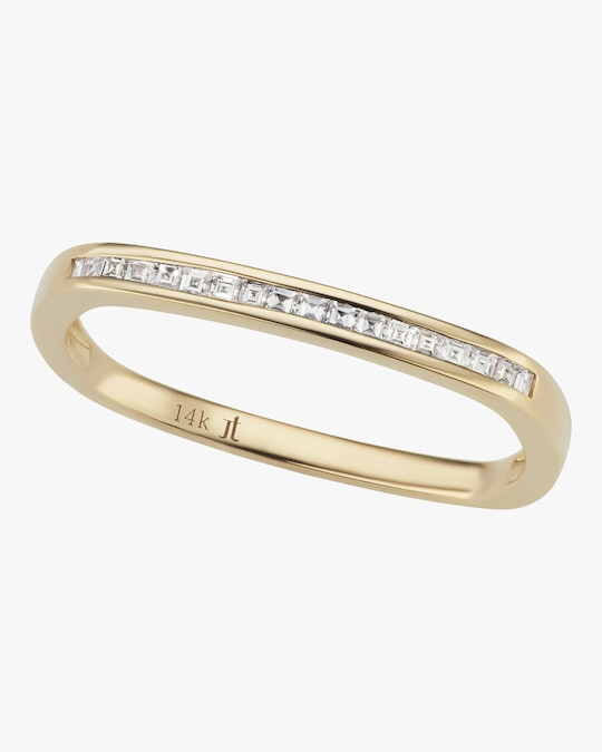 Jane Taylor Yellow Gold Ultra Slim Square Stacking Band 0