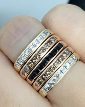 Black Spinel Square Stacking Band