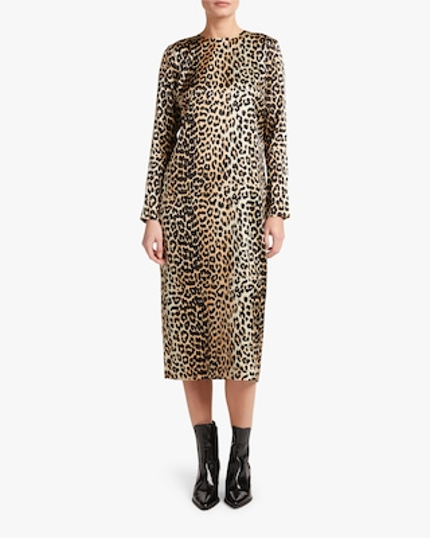 Silk Stretch Midi Dress