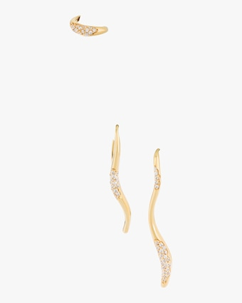 Feminine Waves Pavé Drop Earring Set