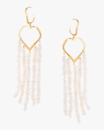 Statement Heart Dangling Earrings