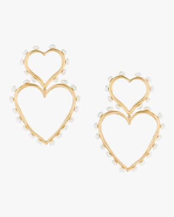 Double-Heart Statement Earrings