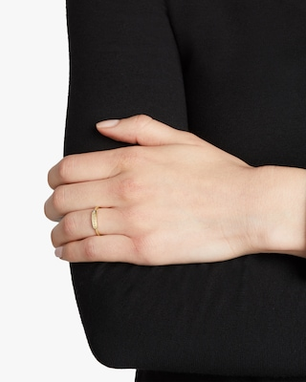 My Story Badass Skinny Signet Diamond Mantra Ring 2
