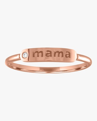 Mama Skinny Signet Diamond Mantra Ring