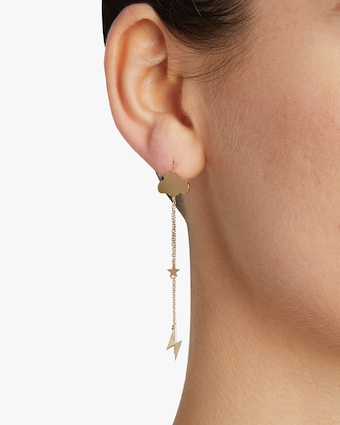 Storm Cloud Pull Through Earring