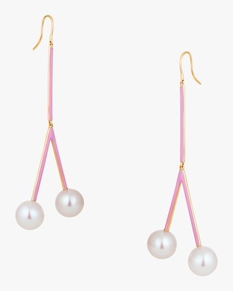 Pearl Cherry Earrings