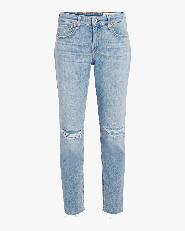 Drew Low-Rise Slim Boyfriend Jeans