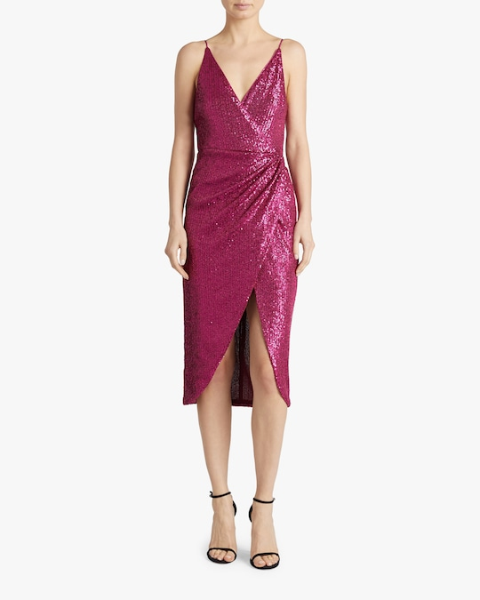 Jonathan Simkhai Sequin-Embroidered Cami Wrap Dress 1