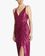 Jonathan Simkhai Sequin-Embroidered Cami Wrap Dress 3