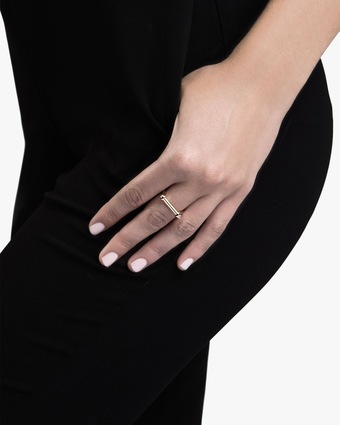 Thin Screw Cuff Ring