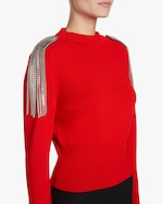 Christopher Kane Chain-Brooch Cropped Sweater 3