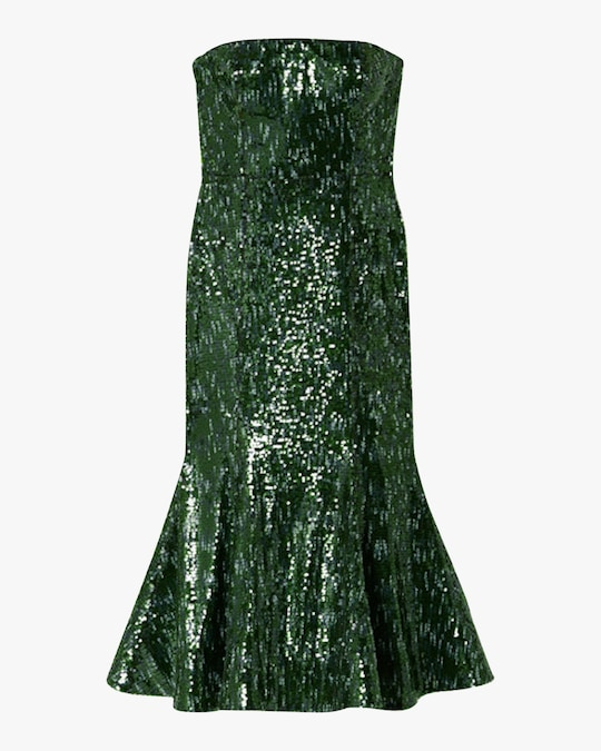 SemSem Strapless Sequin Midi Dress 0