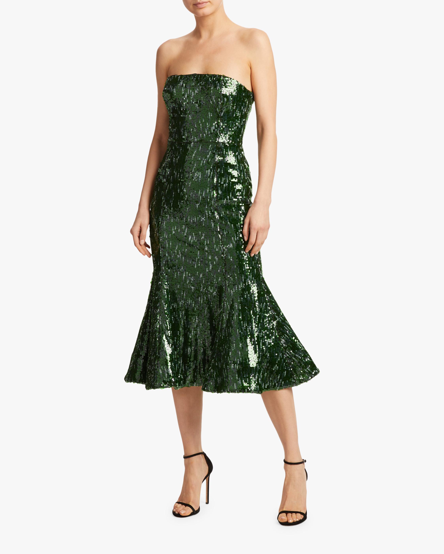 SemSem Strapless Sequin Midi Dress 2
