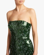 SemSem Strapless Sequin Midi Dress 3