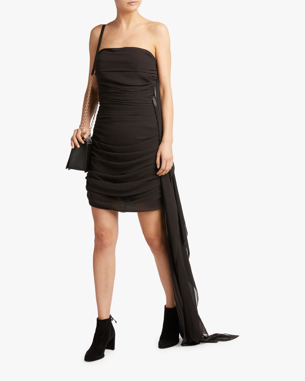 SemSem Strapless Ruched Mini Dress 2