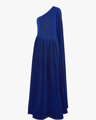 One-Shoulder Pleated Jumpsuit