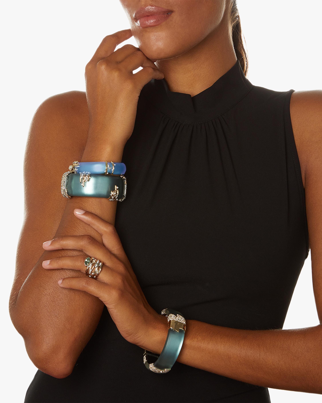 Navette Crystal Spiked Hinge Bracelet