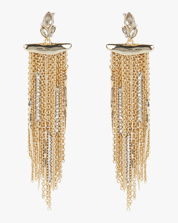 Alexis Bittar Navette Crystal Cluster Post Fringe Earrings 0