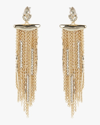 Alexis Bittar Navette Crystal Cluster Post Fringe Earrings 1
