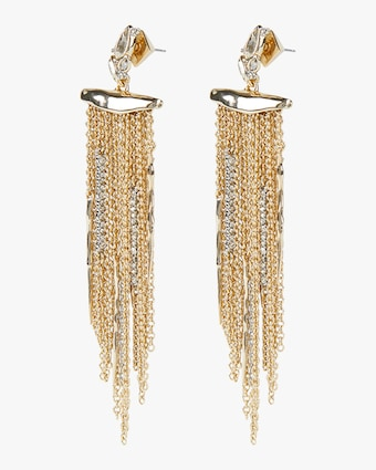 Alexis Bittar Navette Crystal Cluster Post Fringe Earrings 2