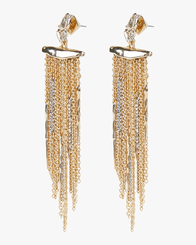 Alexis Bittar Navette Crystal Cluster Post Fringe Earrings 1