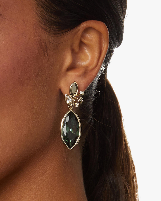 Navette Crystal Cluster Drop Post Earrings
