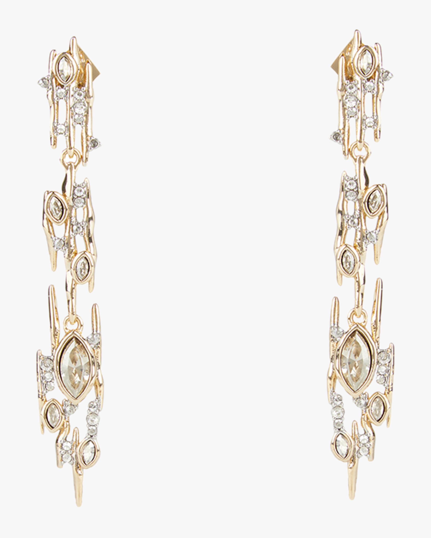 Alexis Bittar Navette Crystal Linear Spike Post Earrings 0