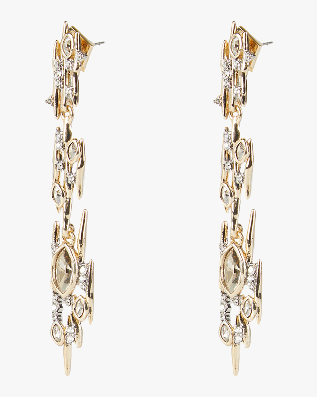 Alexis Bittar Navette Crystal Linear Spike Post Earrings 2