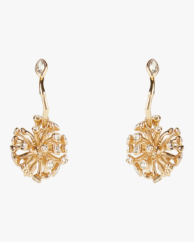 Crystal Burst Hoop Earrings