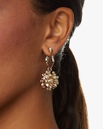 Alexis Bittar Crystal Burst Hoop Earrings 1