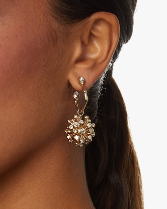 Crystal Burst Hoop Earrings