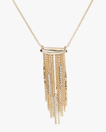 Spiked Fringe Long Pendant Necklace