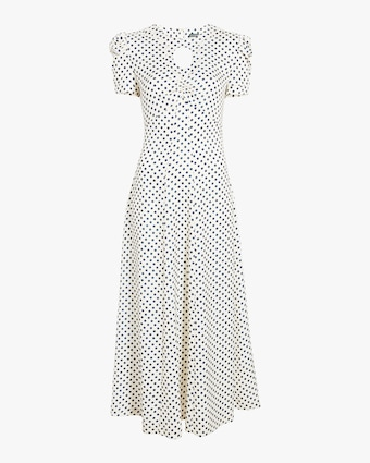 Scallop Pannelled Polkadot Dress