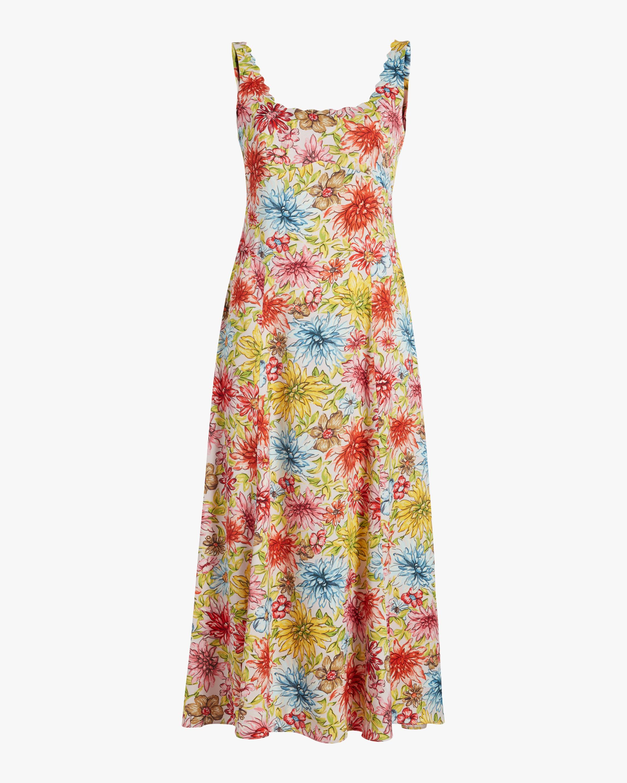 ALEXACHUNG Midi Slip Dress 1