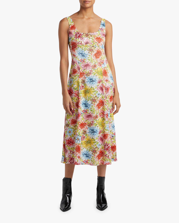 ALEXACHUNG Midi Slip Dress 2