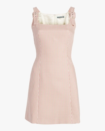 ALEXACHUNG Square-Neck Mini Dress 1