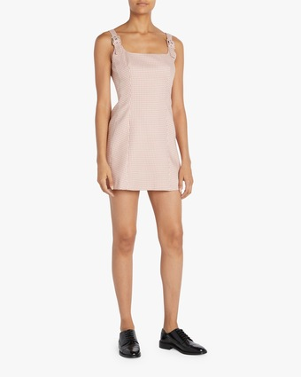 ALEXACHUNG Square-Neck Mini Dress 2