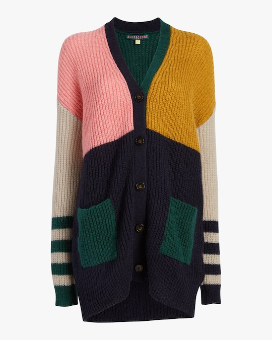 ALEXACHUNG Color Block Cardigan 0