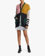 ALEXACHUNG Color Block Cardigan 1