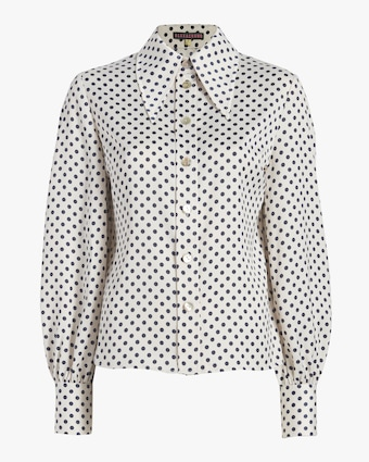 Pointed-Collar Shirt
