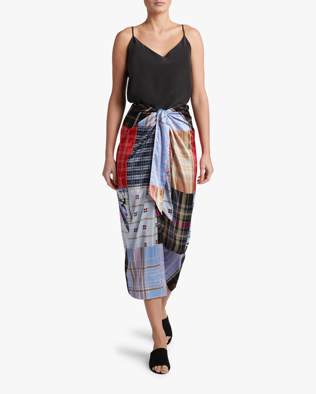Silk-Blend Satin Skirt