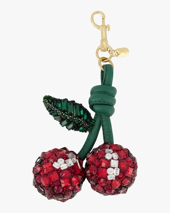 Red Crystal Cherry Charm