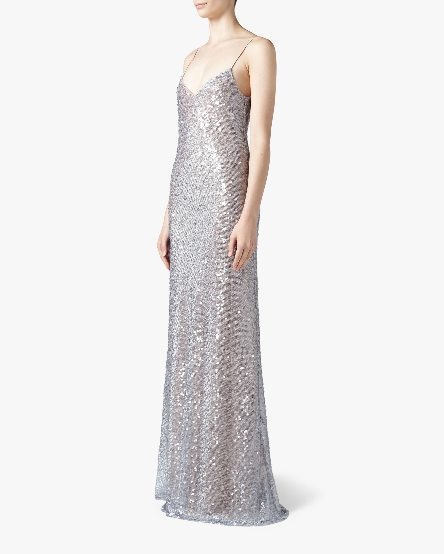Galvan Estrella Spaghetti Strap Dress 1