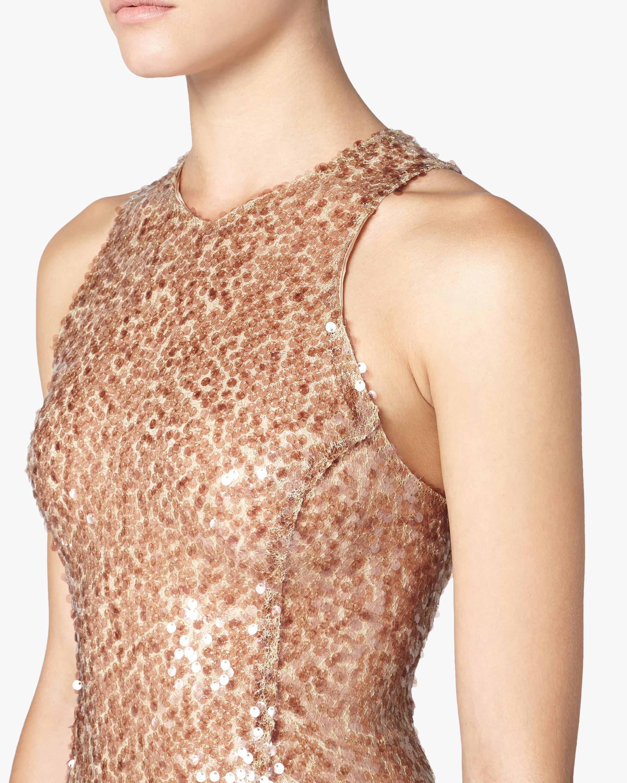 Galvan Pailette Column Dress 4