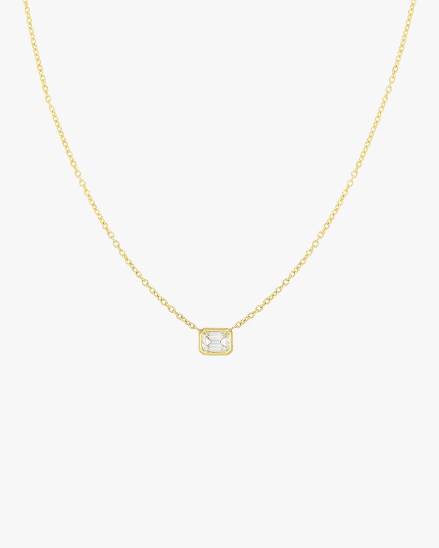 Emerald-Cut Diamond Pendant Necklace