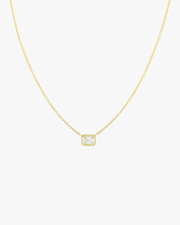 Roberto Coin Emerald-Cut Diamond Pendant Necklace 0