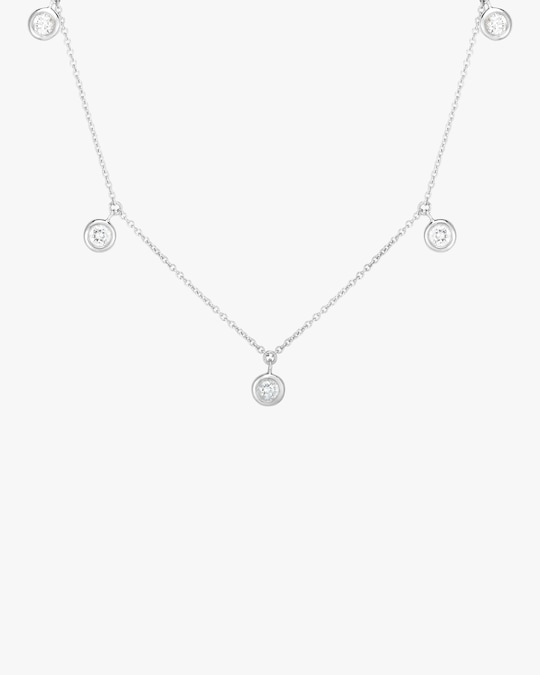 Roberto Coin Five-Station Diamond Necklace 0