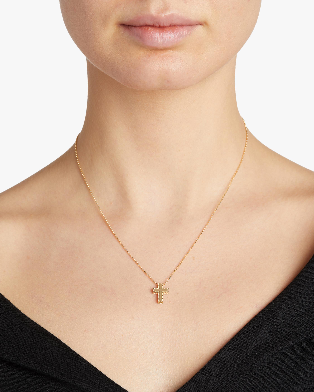 Roberto Coin Princess-Cut Cross Pendant Necklace 1